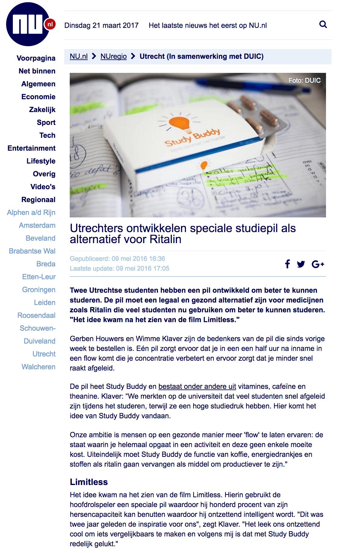 Study Buddy nu.nl